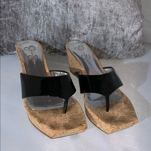 Jessica Simpson black sandals size 9B